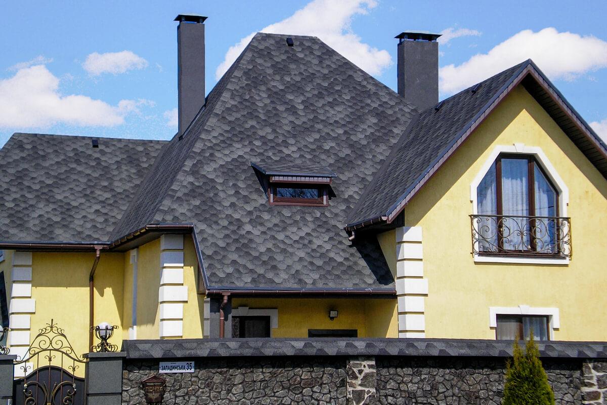 Двухэтажные дома фото с гаражом и навесом